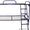 Кровати металлические двухъярусные,  одноярусные,  кровати для рабочих,  опт. #1424155