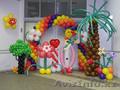 Оформление детских праздников шарами в Алматы.