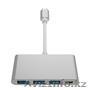 Адаптер хаб с USB-C на USB для MacBook в алматы