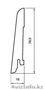 Плинтус шпонированный с тонировкой в Астане